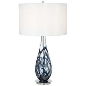 PCL+Indigo+Swirl+Art+Glass+Table+Lamp